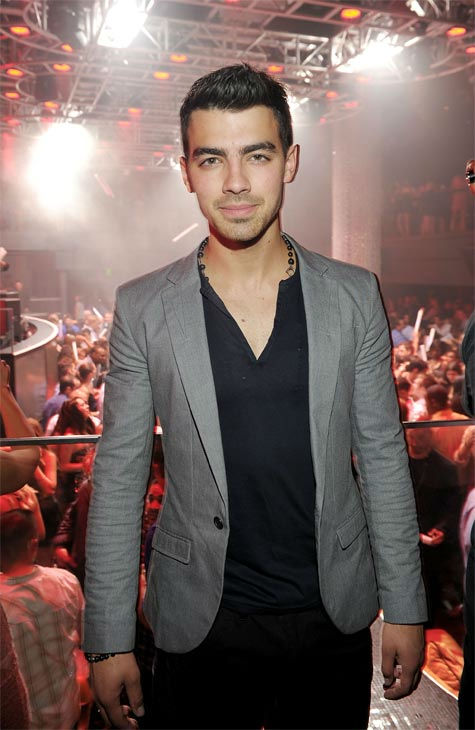 Joe Jonas attends HAZE Nightclub for his...