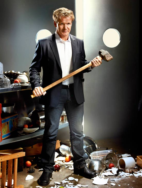 Gordon Ramsay appears in a promotional photo from the FOX show 'Kitchen Nightmares.'