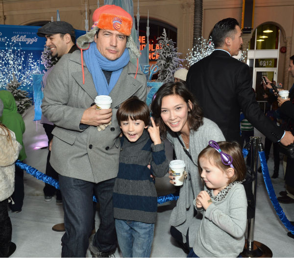 Ken Marino, Erica Oyama and their children attend the premiere of Disney&#39;s &#39;Frozen&#39; at the El Capitan Theatre in Los Angeles on Nov. 19, 2013. Marino co-starred with &#39;Frozen&#39; actress Kristen Bell in the show &#39;Veronica Mars.&#39; <span class=meta>(Alberto E. Rodriguez &#47; WireImage for Walt Disney Studios)</span>