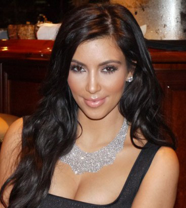 Kim Kardashian appears in a photo taken on her...