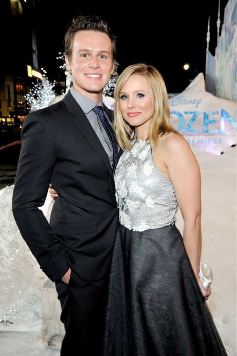 Kristen Bell and Jonathan Groff of &#39;Glee&#39; fame attend the premiere of Disney&#39;s &#39;Frozen&#39; at the El Capitan Theatre in Los Angeles on Nov. 19, 2013. They provide the voices of characters in the animated film. <span class=meta>(John Sciulli &#47; WireImage for Walt Disney Studios)</span>