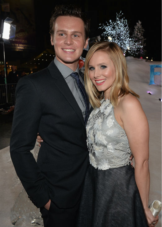 Jonathan Groff and Kristen Bell attend the premiere of Disney&#39;s &#39;Frozen&#39; at the El Capitan Theatre in Los Angeles on Nov. 19, 2013. They provide the voices of characters in the animated film. <span class=meta>(Alberto E. Rodriguez &#47; WireImage for Walt Disney Studios)</span>