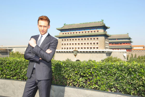 Tom Hiddleston appears at a &#39;Thor: The Dark World&#39; photocall in front of the Qianmen in Beijing, China on October 11, 2013. He plays Loki in the film. <span class=meta>(Walt Disney Studios)</span>