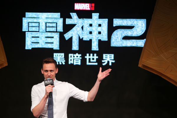 Tom Hiddleston appears at a &#39;Thor: The Dark World&#39; fan event in Beijing, China on Oct. 11, 2013. <span class=meta>(Walt Disney Studios)</span>
