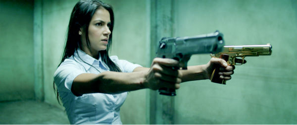 Catalina Denis appears in a scene from the 2014 action movie &#39;Brick Mansions.&#39; She plays the ex-girlfriend of an ex-con and gets kidnapped by the drug kingpin Tremaine. <span class=meta>(Philippe Bosse &#47; Relativity Media &#47; EuropaCorp &#47;Transfilm International Inc.)</span>