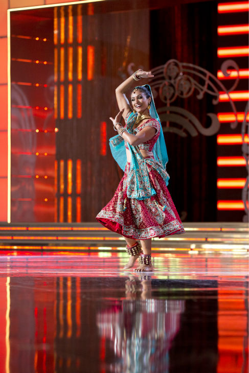 Nina Davuluri, Miss New York, performs a 'Classic Bollywood Dance' at the Miss America 2014 pageant in Atlantic City, New Jersey on Sept. 15, 2013.