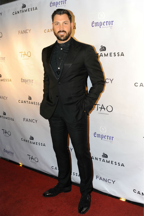 "<div class=""meta ""><span class=""caption-text "">'Dancing With The Stars' alum Maksim Chermovskiy appears at his and Robert Kheit 's Cantamessa Men jewelry collection launch party at Tao Downtown Lounge in New York on Feb. 10, 2014. (Paul Bruinooge / PatrickMcMullan.com)</span></div>"