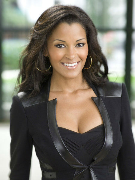 Claudia Jordan appears in an official publicity photo for 'All-Stars Celebrity Apprentice,' which premieres on NBC in 2013.