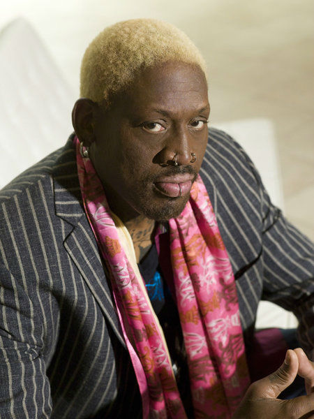 Dennis Rodman appears in an official publicity...