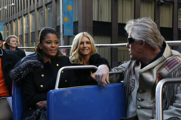 Contestants Claudia Jordan, a &#39;Deal or No Deal&#39; model, Playboy Playmate Brande Roderick and actor Gary Busey appear at an event announcing the cast of &#39;All Star Celebrity Apprentice&#39; in New York City on Oct. 12, 2012.  Jordan placed 13th in season 8. Roderick came in 4th place in season 8 in 2009 and Busey placed 9th in season 11 in 2011. <span class=meta>(NBC Photo &#47; Heidi Gutman)</span>