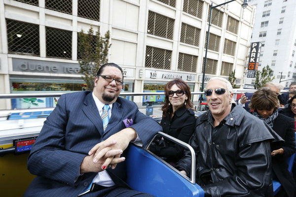 Contestants Penn Jillette, a magician, actress Marilu Henner and Dee Snider, singer of the metal group Twisted Sister and a star of Broadway&#39;s &#39;Rock of Ages,&#39; appear at an event announcing the cast of &#39;All Star Celebrity Apprentice&#39; in New York City on Oct. 12, 2012.  Jilette came in 7th place in season 12 in 2012, while Snider placed 10th. Henner came in 8th place in season 7. <span class=meta>(NBC Photo &#47; Heidi Gutman)</span>