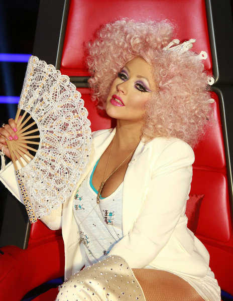 Christina Aguilera appears on the NBC show 'The Voice' on Nov. 13, 2012.