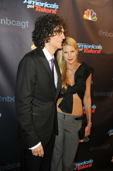 "<div class=""meta ""><span class=""caption-text "">'America's Got Talent' co-judge Howard Stern and wife Beth Ostrosky Stern pose on the red carpet after the season 8 finale at Radio City Music Hall in New York on Sept. 18, 2013. (Lucien Sims / NBC)</span></div>"