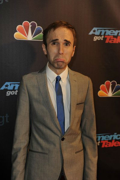 "<div class=""meta ""><span class=""caption-text "">'America's Got Talent' season 8 runner-up and comedian Taylor Williamson poses on the red carpet after the season 8 finale at Radio City Music Hall in New York on Sept. 18, 2013. (Lucien Sims / NBC)</span></div>"