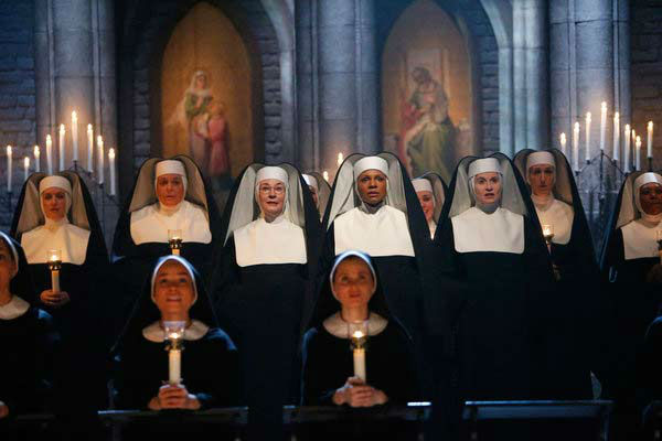 Jessica Molaskey as Sister Berthe, Audra McDonald as Mother Abess and Christiane Noll as Sister Margaretta appear in a photo from &#39;The Sound of Music Live!&#39; rehearsal. The show airs on Dec. 5, 2013. <span class=meta>(Will Hart&#47;NBC)</span>