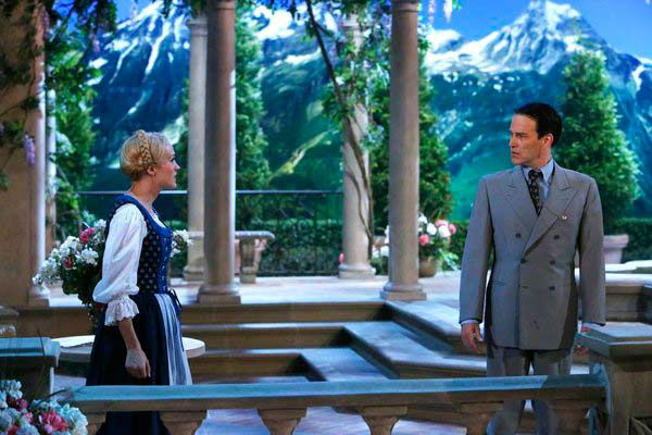 Stephen Moyer as Captain Von Trapp and Carrie Underwood as Maria appear in a photo from 'The Sound of Music Live!' rehearsal. The show airs on Dec. 5, 2013.