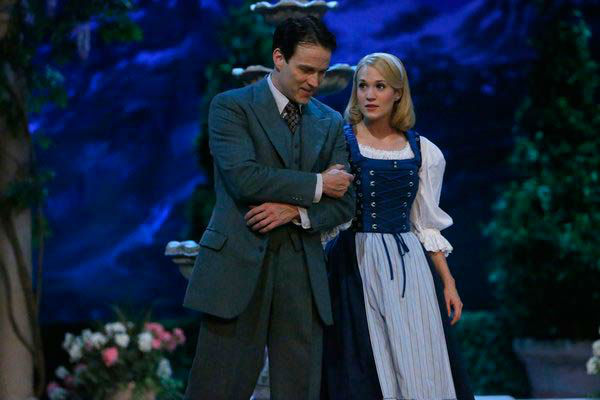 Stephen Moyer as Captain Von Trapp and Carrie Underwood as Maria appear in a photo from 'The Sound