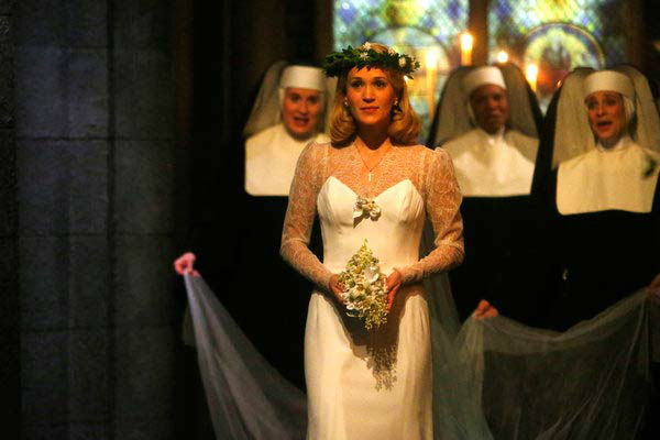 Carrie Underwood as Maria appears in a photo from &#39;The Sound of Music Live!&#39; rehearsal. The show airs on Dec. 5, 2013. <span class=meta>(Will Hart&#47;NBC)</span>