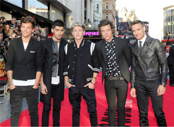 "<div class=""meta ""><span class=""caption-text "">One Direction members Louis Tomlinson, Zayn Malik, Niall Horan, Harry Styles and Liam Payne walk the red carpet at the premiere of 'One Direction: This Is Us' in London on Aug. 20, 2013. (Richard Young / REX / Startraksphoto.com)</span></div>"