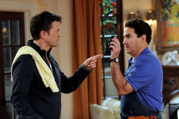 John Michael Higgins and Valente Rodriguez appear in a still from &#39;Happily Divorced,&#39; which premieres on TV Land on June 15. <span class=meta>(TV Land)</span>