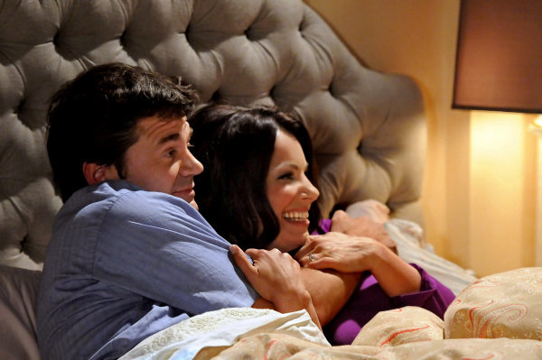 John Michael Higgins and Fran Drescher appear in a still from &#39;Happily Divorced,&#39; which premieres on TV Land on June 15. <span class=meta>(TV Land)</span>