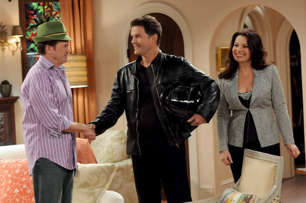 John Michael Higgins, D.W. Moffett and Fran Drescher appear in a still from &#39;Happily Divorced,&#39; which premieres on TV Land on June 15. <span class=meta>(TV Land)</span>