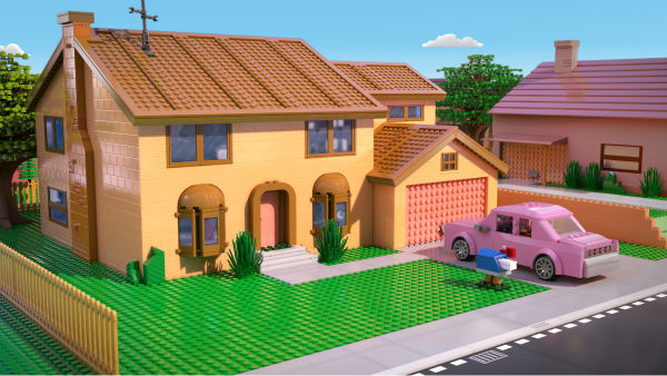 "<div class=""meta ""><span class=""caption-text "">The Simpsons' family home is depicted in LEGO form in episode No. 550 of the FOX animated series 'The Simpsons,' 'Brick Like Me,' which aired on May 4, 2014. On the show, Homer wakes up in a world where his family, friends and other residents of Springfield are made of LEGOs. (FOX)</span></div>"