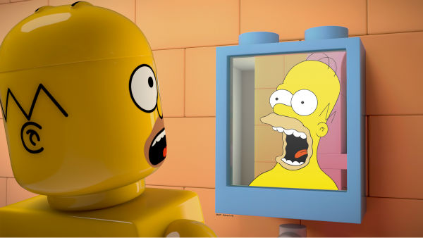 "<div class=""meta ""><span class=""caption-text "">Homer Simpson is depicted in LEGO form in episode No. 550 of the FOX animated series 'The Simpsons,' 'Brick Like Me,' which aired on May 4, 2014. On the show, Homer wakes up in a world where his family, friends and other residents of Springfield are made of LEGOs. (FOX)</span></div>"