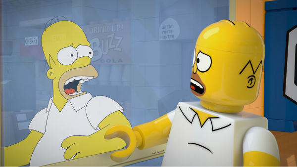 Homer Simpson is depicted in LEGO form in episode No. 550 of the FOX animated series &#39;The Simpsons,&#39; &#39;Brick Like Me,&#39; which aired on May 4, 2014. On the show, Homer wakes up in a world where his family, friends and other residents of Springfield are made of LEGOs. <span class=meta>(FOX)</span>