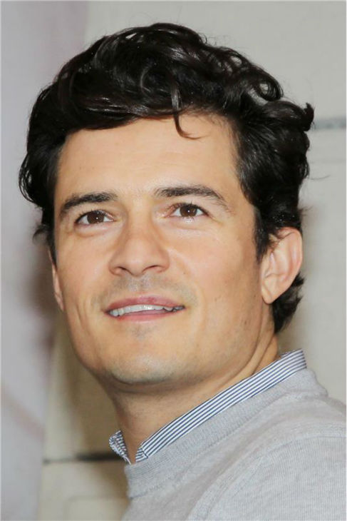 Orlando Bloom, star of the upcoming Broadway production of 'Romeo and Juliet,' is seen on Aug. 7, 2013 arriving at the show's new home, the Richard Rodgers Theatre, for the first time. The play opens officially on Sept. 19.