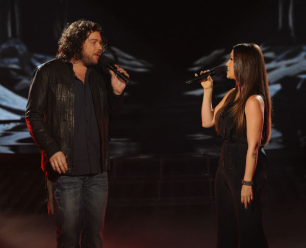 Josh Krajcik &#40;L&#41; and Alanis Morissette perform her 1998 song &#39;Uninvited&#39; on &#39;The X Factor&#39; on Dec. 21, 2011 on FOX.  <span class=meta>(Ray Mickshaw &#47; FOX)</span>