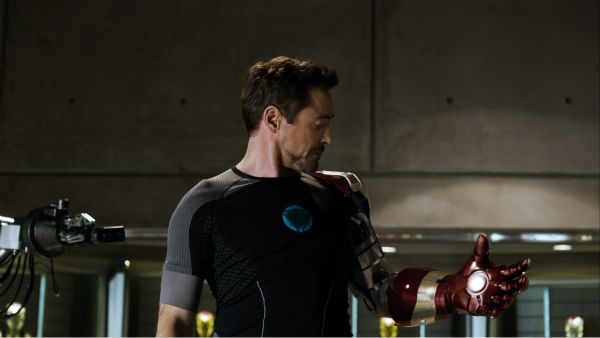 Tony Stark/Iron Man (Robert Downey Jr.) appears...