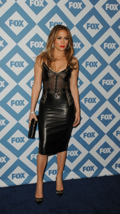 'American Idol' season 13 judge, pop singer and actress Jennifer Lopez appears at the FOX Winter 2014 event's all-star party at the Langham Hotel in Pasadena, Cal