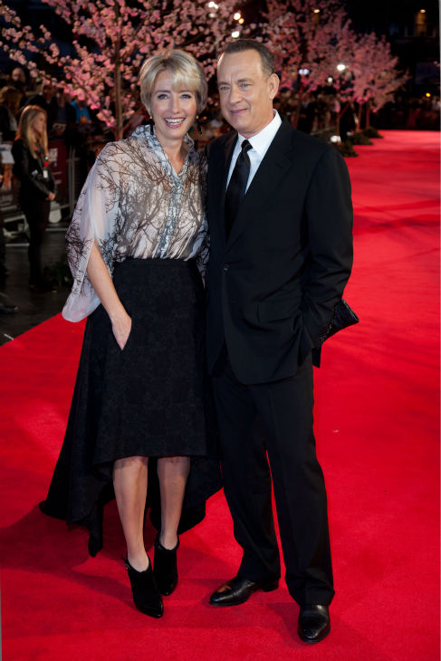"<div class=""meta ""><span class=""caption-text "">Tom Hanks and Emma Thompson attend the world premiere of Disney's 'Saving Mr. Banks' at the closing night of the 57th BFI London Film Festival at the Odeon Leicester Square theater in London on Oct. 20, 2013. (David Dettmann / Walt Disney Studios)</span></div>"