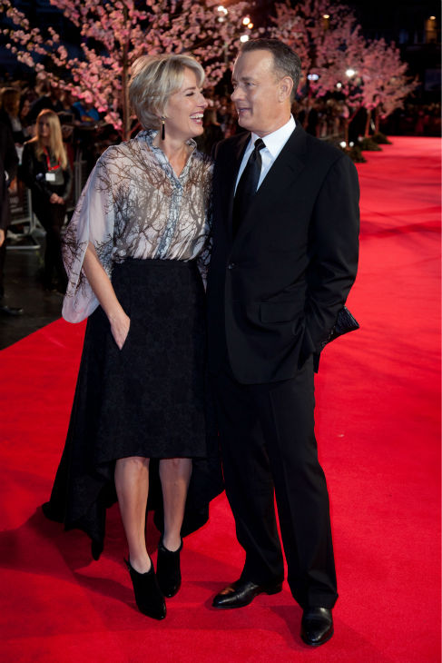 Tom Hanks and Emma Thompson attend the world premiere of Disney&#39;s &#39;Saving Mr. Banks&#39; at the closing night of the 57th BFI London Film Festival at the Odeon Leicester Square theater in London on Oct. 20, 2013. <span class=meta>(David Dettmann &#47; Walt Disney Studios)</span>
