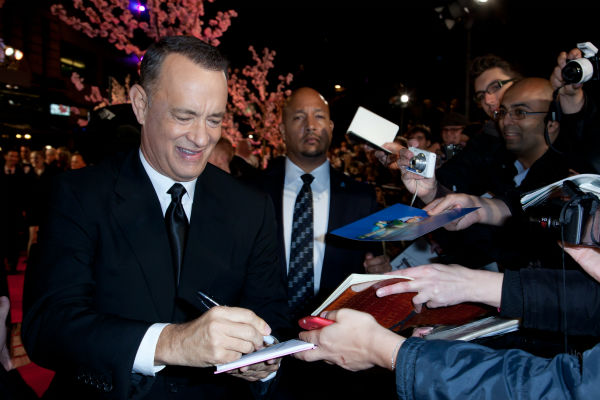 "<div class=""meta ""><span class=""caption-text "">Tom Hanks attends the world premiere of Disney's 'Saving Mr. Banks' at the closing night of the 57th BFI London Film Festival at the Odeon Leicester Square theater in London on Oct. 20, 2013. (David Dettmann / Walt Disney Studios)</span></div>"