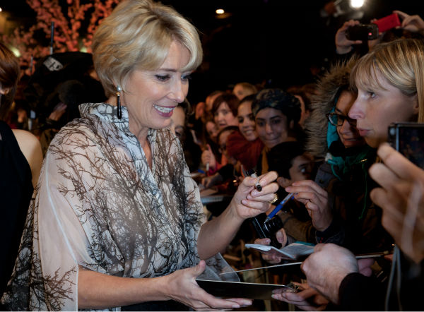 Emma Thompson attends the world premiere of Disney&#39;s &#39;Saving Mr. Banks&#39; at the closing night of the 57th BFI London Film Festival at the Odeon Leicester Square theater in London on Oct. 20, 2013. <span class=meta>(David Dettmann &#47; Walt Disney Studios)</span>