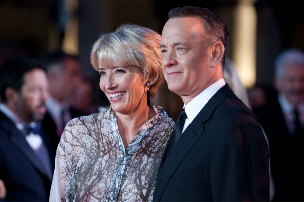"<div class=""meta ""><span class=""caption-text "">Emma Thompson and Tom Hanks attend the world premiere of Disney's 'Saving Mr. Banks' at the closing night of the 57th BFI London Film Festival at the Odeon Leicester Square theater in London on Oct. 20, 2013. (David Dettmann / Walt Disney Studios)</span></div>"