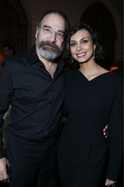 "<div class=""meta image-caption""><div class=""origin-logo origin-image ""><span></span></div><span class=""caption-text"">'Homeland' stars Mandy Patinkin (Golden Globe nominee) and Morena Baccarin attend a Showtime dinner celebrating the cable channel's 2013 Golden Globe Nominees on Jan. 12, 2013 at Chateau Marmont in West Hollywood, California. (Alexandra Wyman / Showtime)</span></div>"