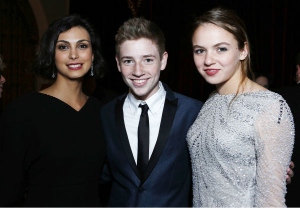 'Homeland' stars Morena Baccarin, Jackson Pace and Morgan Saylor attend a Showtime dinner celebrating the cable channel's 2013 Golden Globe Nominees on Jan. 12, 2013 at Chateau Marmont in West Hollywood, California.