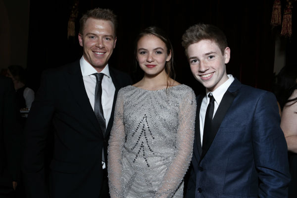 'Homeland' stars Diego Klattenhoff, Morgan Saylor and Jackson Pace attend a Showtime dinner celebrating the cable channel's 2013 Golden Globe Nominees on Jan. 12, 2013 at Chateau Marmont in West Hollywood, California.