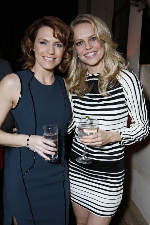 &#39;Episodes&#39; stars Kathleen Rose Perkins and Mircea Monroe attend a Showtime dinner celebrating the cable channel&#39;s 2013 Golden Globe Nominees on Jan. 12, 2013 at Chateau Marmont in West Hollywood, California. <span class=meta>(Alexandra Wyman &#47; Showtime)</span>