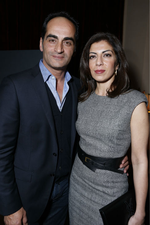 'Homeland's Navid Negahban (Abu Nazir) and a guest attend a Showtime dinner celebrating the cable channel's 2013 Golden Globe Nominees on Jan. 12, 2013 at Chateau Marmont in West Hollywood, California.