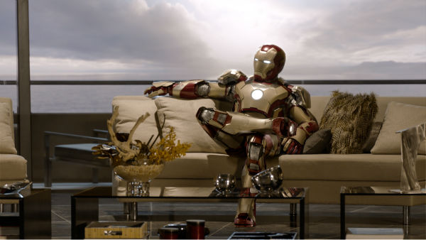 Tony Stark/Iron Man (Robert Downey Jr.) appears in a scene from Marvel's 'Iron Man 3.'