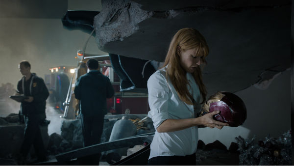 Pepper Potts (Gwyneth Paltrow) appears in a scene from Marvel's 'Iron Man 3.'