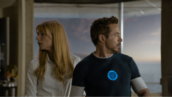 Pepper Potts &#40;Gwyneth Paltrow&#41; and Tony Stark&#47;Iron Man &#40;Robert Downey Jr.&#41; appear in a scene from Marvel&#39;s &#39;Iron Man 3.&#39; <span class=meta>(Film Frame &#47; Marvel &#47; Walt Disney Pictures)</span>