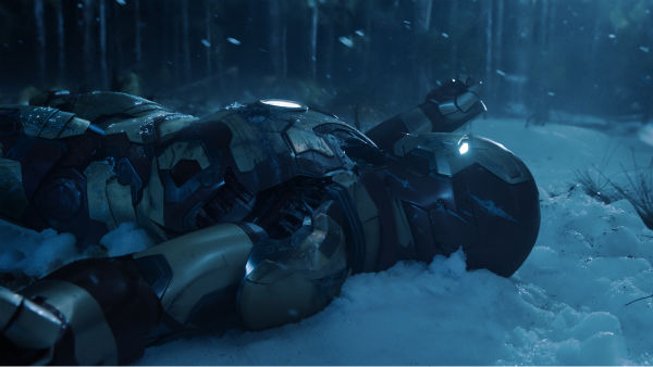 Tony Stark&#47;Iron Man &#40;Robert Downey Jr.&#41; is seen laying in the snow in a scene from Marvel&#39;s &#39;Iron Man 3.&#39; <span class=meta>(Film Frame &#47; Marvel &#47; Walt Disney Pictures)</span>