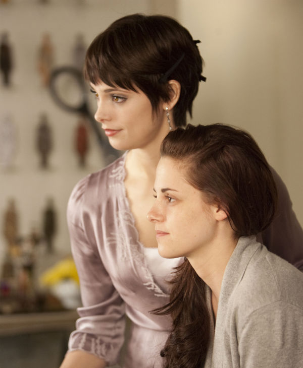 Ashley Greene and Kristen Stewart appear in a...