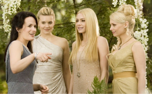 Elizabeth Reaser, Maggie Grace, Casey LaBow and MyAnna Buring appear in a scene from 'The Twilight Saga: Breaking Dawn - Part 1.'
