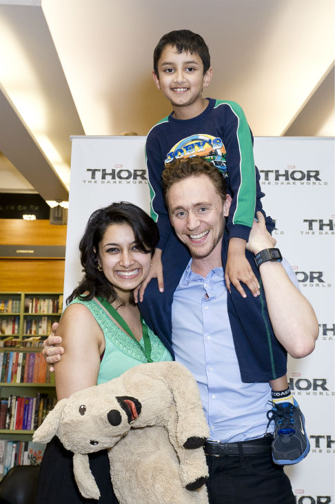 Tom Hiddleston poses with fans at a &#39;Thor: The Dark World&#39; fan event in Sydney, Australia on Oct. 9, 2013. He reprises his role as Loki in the Marvel film. <span class=meta>(Esteban La Tessa - La Tessa Photography)</span>